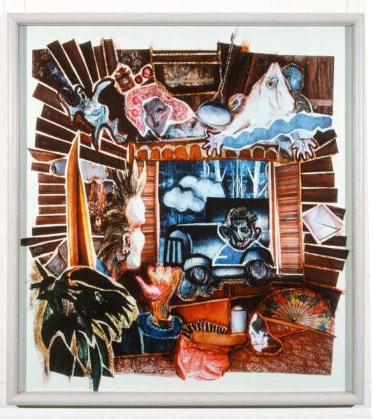 Shayne Higson A Blue Brain is Not Insane, 1988; colour cibachrome;  x 94 x 86 cm; enquire