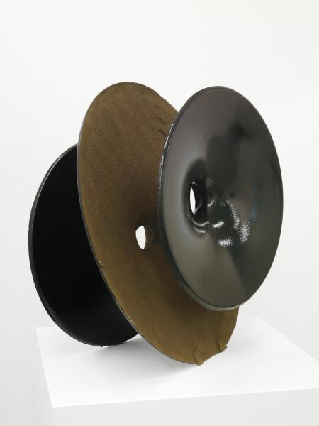 James Angus Cast Iron Inversion (Black), 2012; from a series of 5 colours; cast iron, enamel paint; 80 x 80 x 50 cm; 45kg; enquire