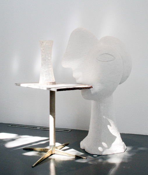Hany Armanious Effigy of an Effigy with Mirage, 2010; cast pigmented polyurethane resin, fiberglass and pewter with pigment; 132 x 104.8 x 83.8 cm; enquire