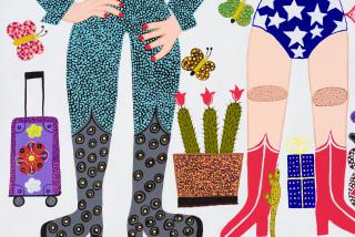 Kaylene Whiskey Seven Sistas Story (detail), 2021; acrylic on linen; 122 x 456 cm; Triptych: 122 x 152 cm each; enquire