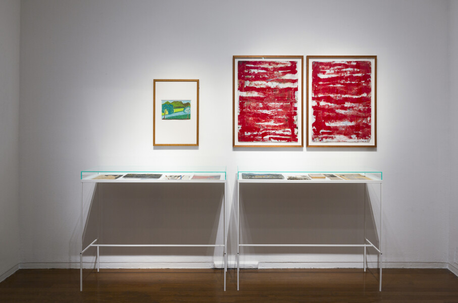 Newell Harry Archive of a lost South African Modern: Found contents of the estate of Henry M. Waller (Cape Town, 2006), 2017; various ephemera, works on paper, oil on tin, artist designed acrylic and steel structure; vitrine dimensions: 97 x 120 x 45cm each; overall dimensions variable; enquire