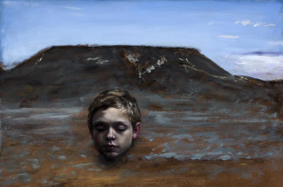 Louise Hearman Untitled #1337, 2011; Oil on masonite; 66.5 x 97 x 6 cm; Enquire