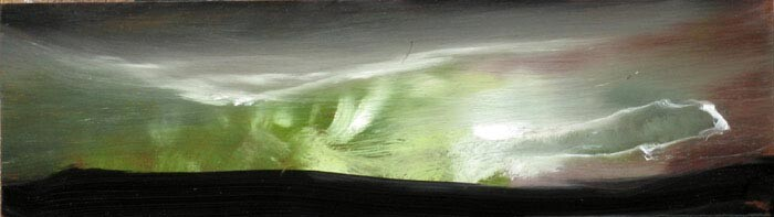 Louise Hearman Untitled #1165, 2005; oil on masonite; 12 x 40 cm; enquire