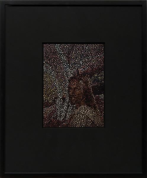 Daniel Boyd Jesus Christ!, 2010; paint, archival glue and digital print on paper; 34 x 25 cm; enquire