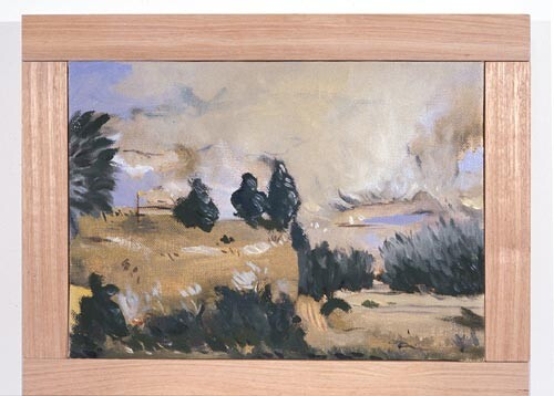 Linda Marrinon Golf Course at Seddon, 1996; Oil on canvas; 38 x 27 cm; enquire