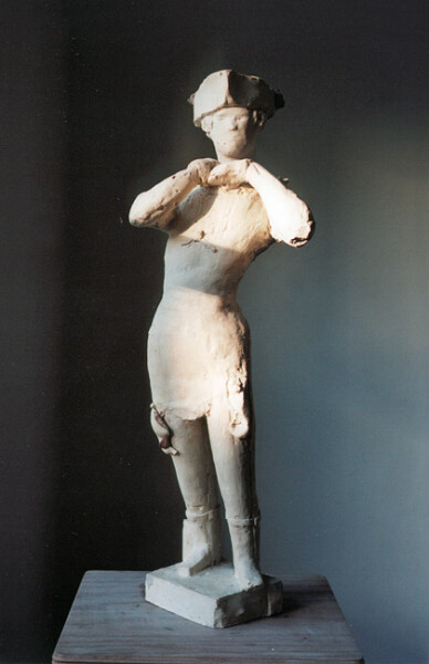 Linda Marrinon Woman with Tricorn, 2006; tinted plaster; 70 x 25 x 20 cm; enquire