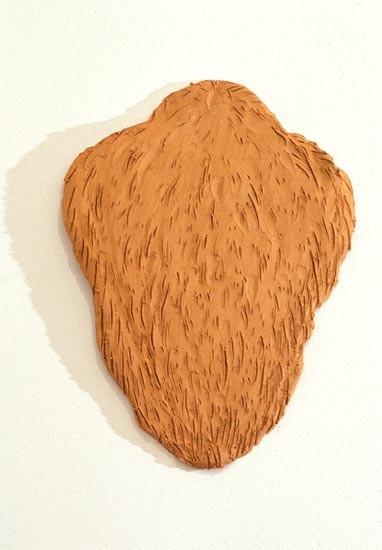Linda Marrinon Fur Pelt, 1994; terracotta ; 38 cms high; enquire