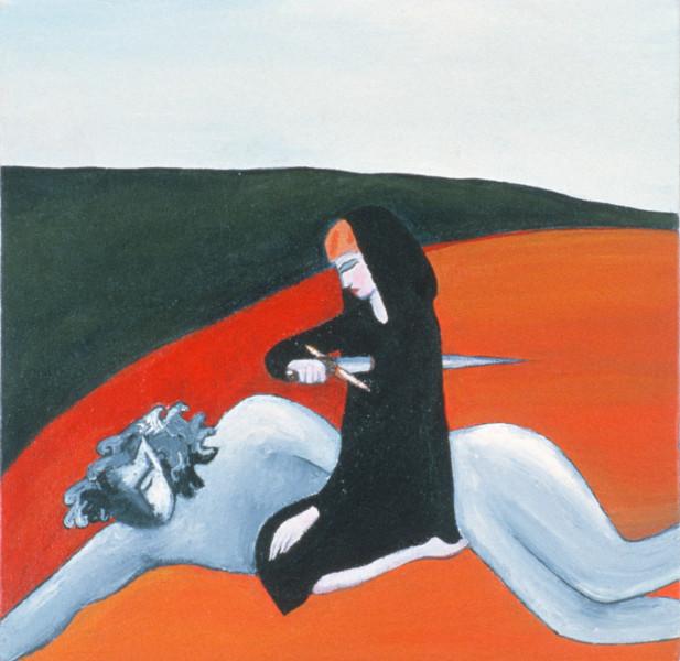 Vivienne Shark LeWitt Beauty and the Beast, 1983; acrylic on canvas; 31 x 31 cm; enquire