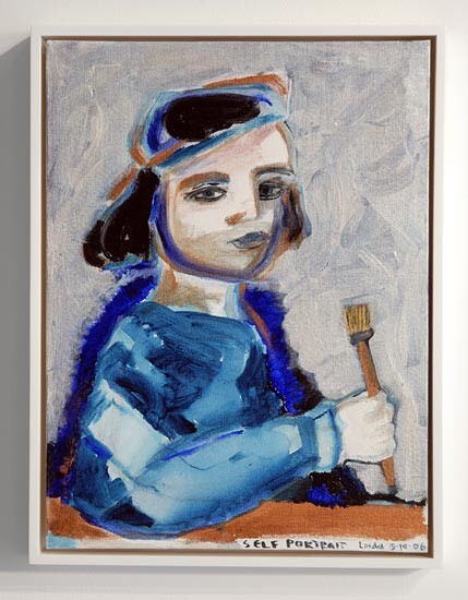 Angela Brennan Self-portrait London 15.10.2006, 2006; acrylic on canvas; 40.5 x 30.5 (unframed), 43 x 33cm (framed); enquire