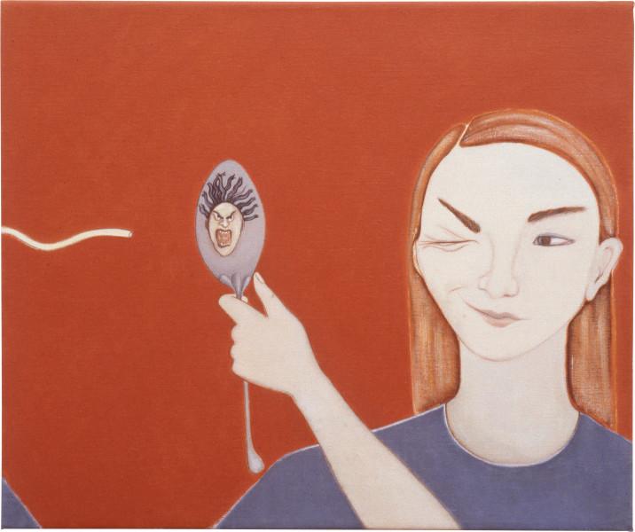 Vivienne Shark LeWitt Diners Club, 1992; acrylic on linen; 51 x 61 cm; enquire
