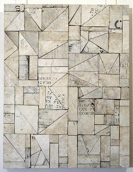 Rosalie Gascoigne Real Estate, 1994; sawn wood on craftboard; 72 x 55.5 cm; enquire