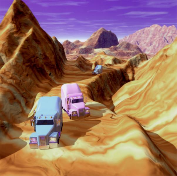 Patricia Piccinini Desert Riders, Mountain, 2000; type C photograph; 80 x 80 cm; 120 x 120 cm (paper size); Edition of 30 + 3 AP; enquire