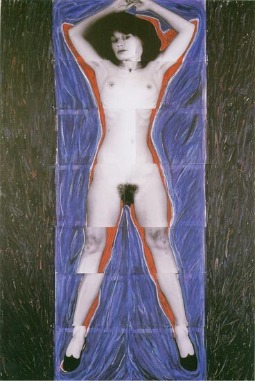 Julie Rrap Persona and Shadow: Siren, 1984; cibachrome print; approx. 194 x 105 cm; Edition of 9 + 2 A/Ps; enquire