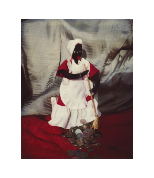 Destiny Deacon Ask your mother for sixpence, 1995-03; light jet print from Polaroid original; 100 x 80 cm; Edition of 15; enquire