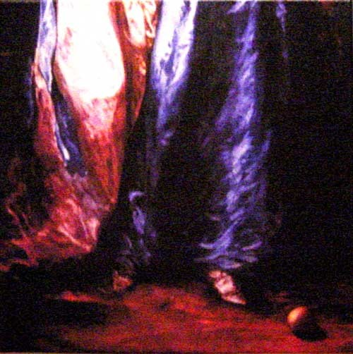 Anne Zahalka Untitled (peach), 2001; colour print on canvas; 36 x 36 cm; Edition of 10; enquire