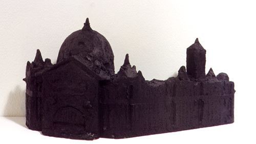 Linda Marrinon Flinders Street Station, 1998; from the series Sculpture For The Home; Terracotta tinted to resemble bronze; 21 x 44 x 15 cm; enquire