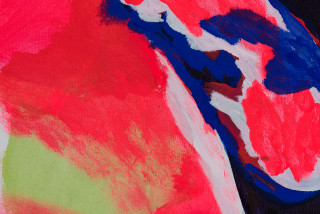 Tom Polo watch and witness (detail), 2021; acrylic and Flashe on canvas; 198 x 213 cm; enquire