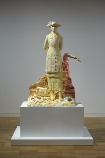 Linda Marrinon Woman of Albert, France 1916, 2019; painted plaster; 150 x 103 x 62 cm; enquire