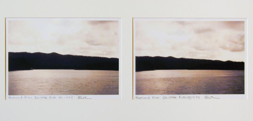 Destiny Deacon Postcards from Daintree River (A) (B), 1998; 2 colour laser prints; 21 x 29.7 cm; Edition of 15; enquire