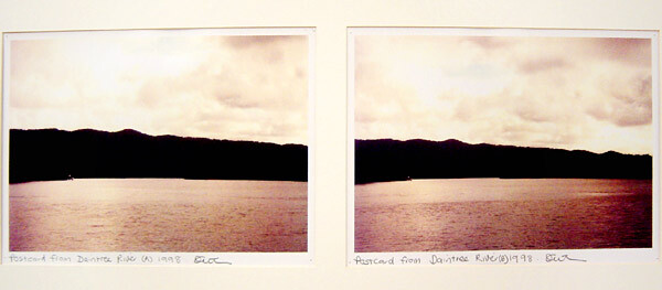 Destiny Deacon Postcards from Daintree River (A) (B), 1998; 2 colour laser prints; 21 x 29.7 cm; Edition of 15; enquire