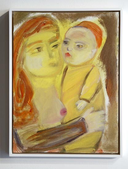 Angela Brennan Mother and child, 2006; acrylic on canvas board; 41 x 30.5cm (unframed), 43 x 33cm (framed); enquire