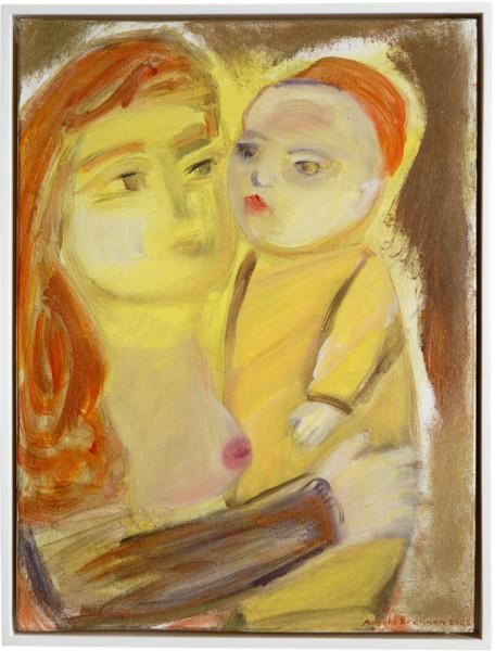 Angela Brennan Mother and child, 2006; acrylic on canvas board; 41 x 30.5cm (unframed), 43 x 33cm (framed); enquire