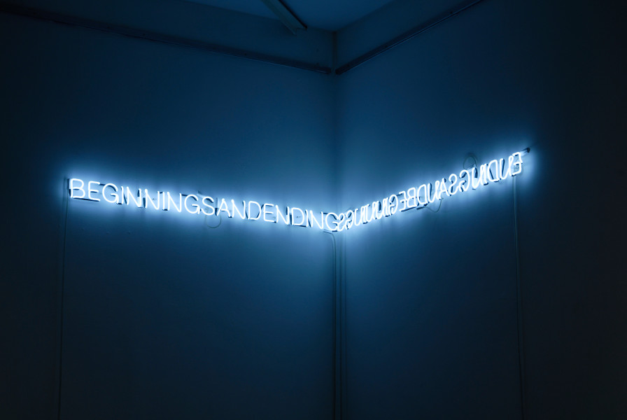 Newell Harry Beginnings and Endings / Endings and Beginnings, 2008; neon (Helvetica, snow white); 10 x 330 cm; Edition of 5 + 2 AP; enquire