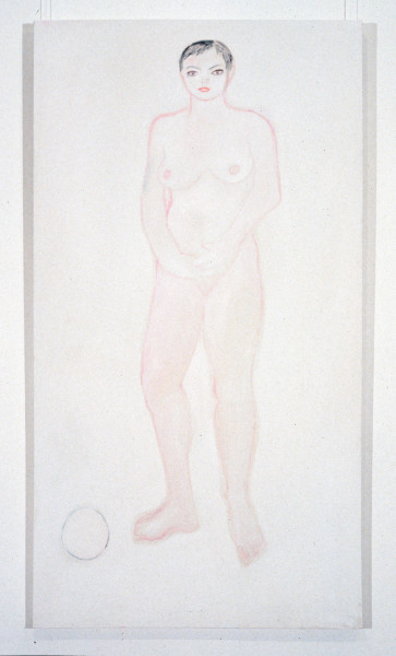 Angela Brennan Nude with ball, 1994; oil on canvas; 168 x 91 cm; enquire