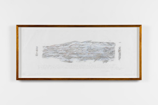 John Wolseley Immanuel Kant's Log, 2016; graphite rubbing from found wood with coloured pencil; 35 x 88 cm; Edition of 10; enquire