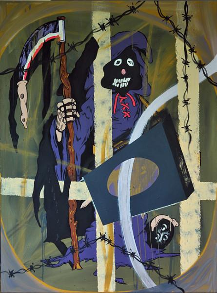 David Griggs Condos for Condoms, 2010; acrylic on canvas; 183 x 137 cm; enquire