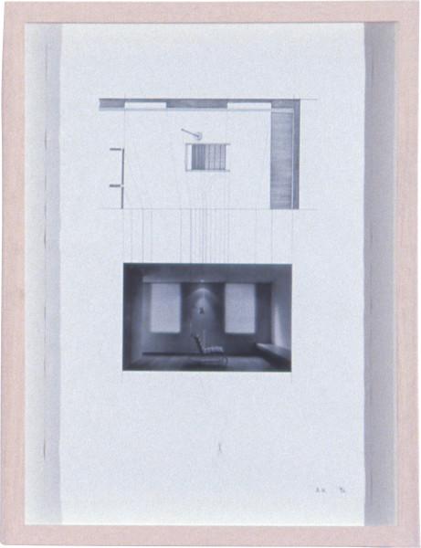 Alex Hartley Plan 3, 1996; photograph & pencil on paper; 42 x 30 cm; enquire