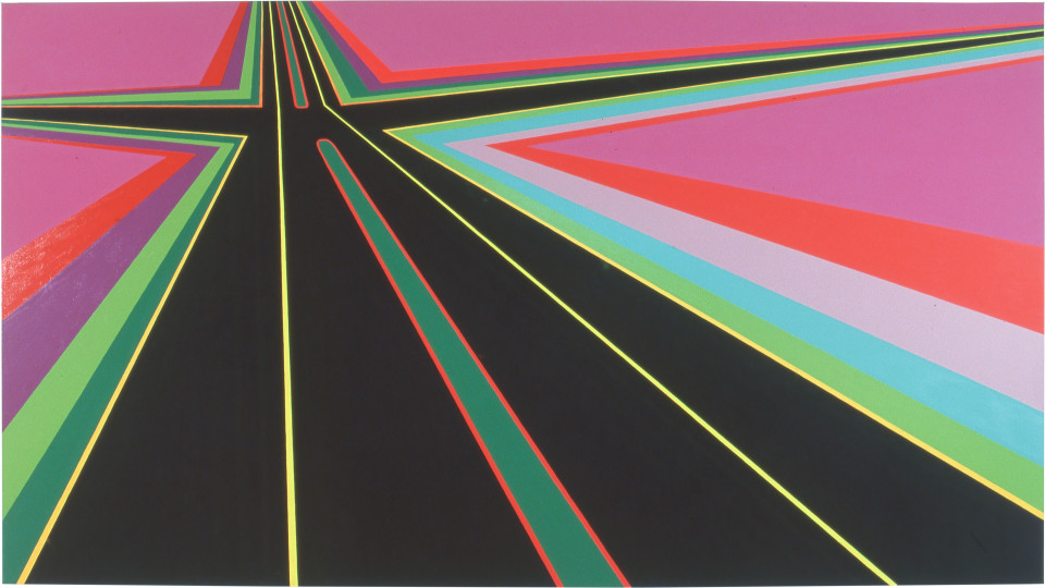Dale Frank The Perfect Drug, 0; acrylic on linen; 200 x 360 cm; enquire