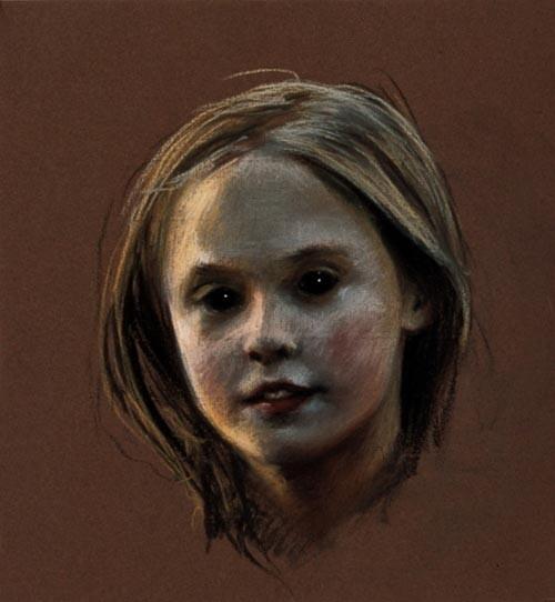 Louise Hearman Untitled #606, 1997; pastel on paper; 31 x 28 cm; enquire