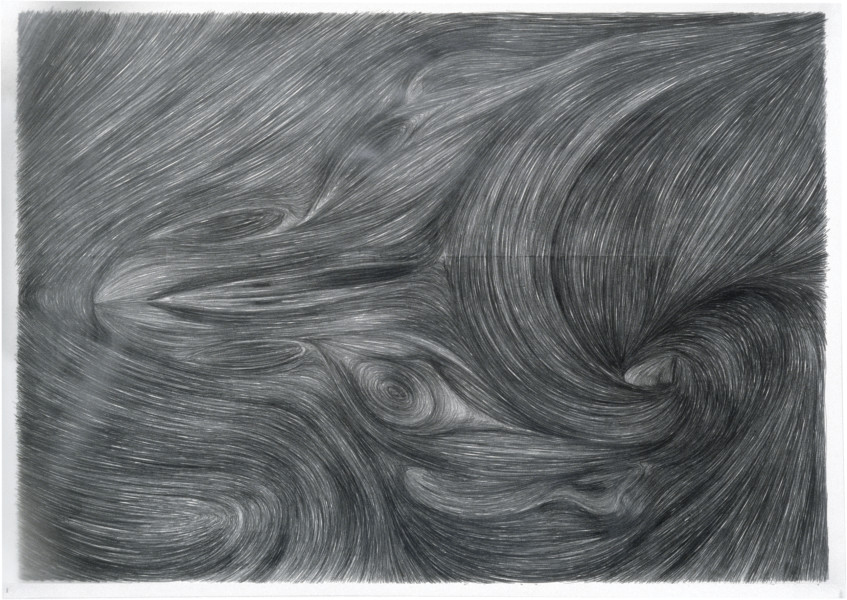 Dale Frank Devil May Care Ingrained Ears, 1982; graphite on paper; 134 x 188 cm; enquire