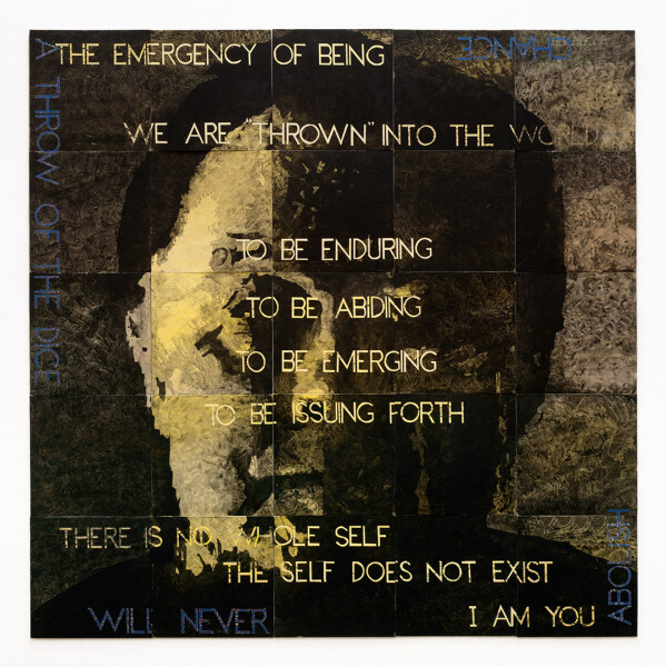 Imants Tillers The emergency of being I, 2013; acrylic, gouache on 25 canvas boards, nos. 92655 - 92679; 151 x 151.5 cm; enquire