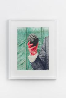 installation view; Callum Morton The Prop #1, 2020; pencil on paper; 56.5 x 45 cm; enquire