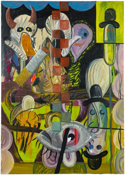 David Griggs 1968 bass kill desert, 2017; oil on canvas; 214 x 152 cm; enquire