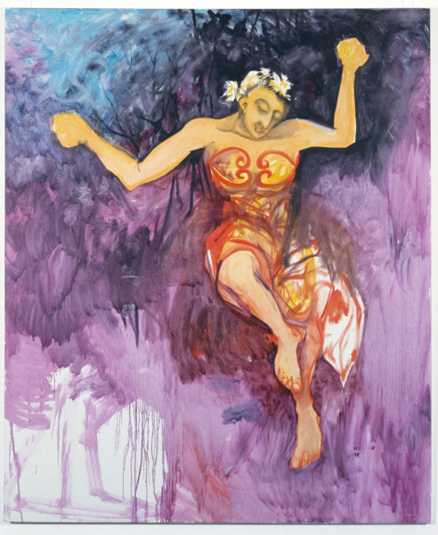 Victor Rubin A dance with the edge of the essence, 1989; oil on primed linen; 199 x 167.5 cm; enquire