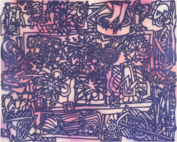 Howard Arkley Spot the Difference (A), 1983; acrylic on canvas; 160 x 250 cm; enquire