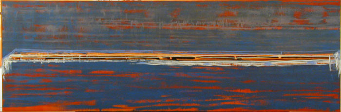 John Firth-Smith Distance, 2003; oil on linen; 4 x 12ft; enquire