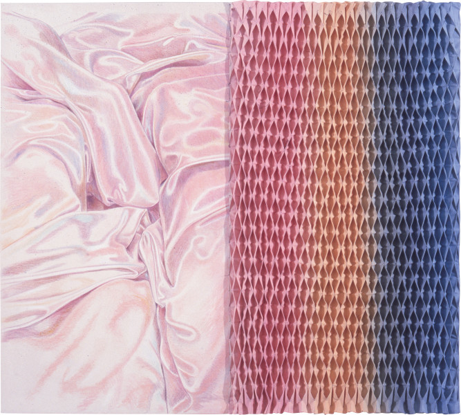 Heather Dorrough Kate and Emma, 1987; pastel and acrylic on canvas; 176 x 198 cm; enquire