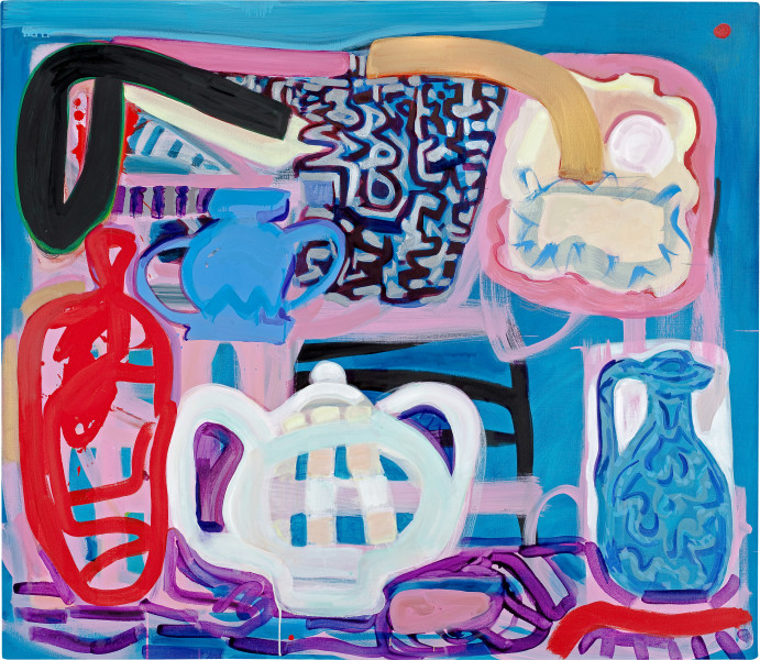 Angela Brennan Still life with vessels, 2009; oil on linen; 136 x 145 cm; enquire
