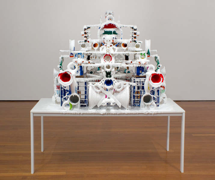 Teppei Kaneuji White Discharge (Built-up Objects #15), 2011; found objects, resin, glue; 190 x 175 x 113 cm; enquire