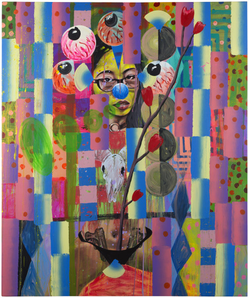 David Griggs It's forbidden to tattoo in eternity, 2017; acrylic on canvas; 183.5 x 152.5 cm; enquire