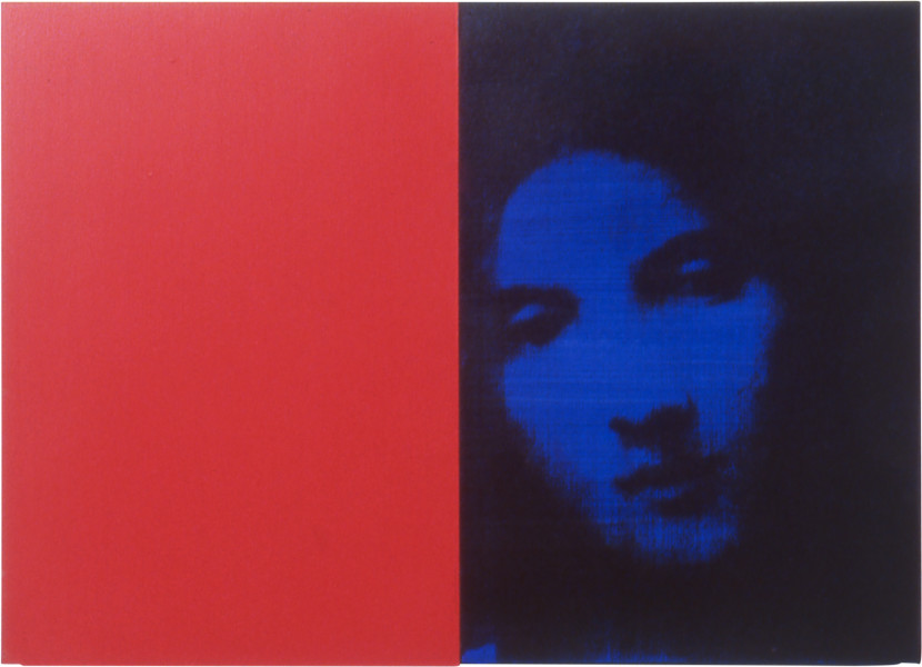 Lindy Lee Neither Choice nor Chance, 1999; photocopy, oil, acrylic and wax on board; 3 panels, 41.5 x 59 cm; enquire