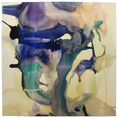 Dale Frank Umbilicus Bracket creep Brain Wash Dead Loss, 2007; varnish on canvas; 200 x 200 cm; enquire