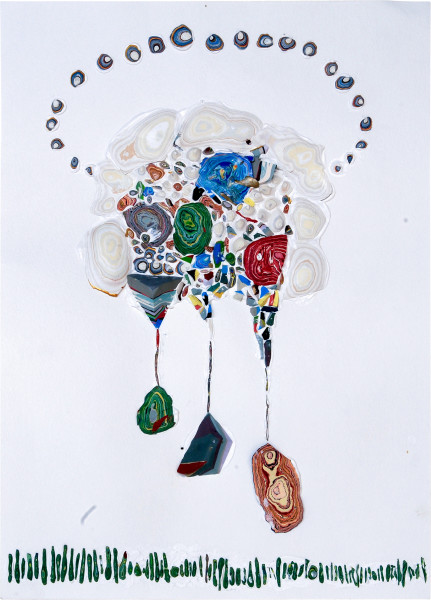 Rohan Wealleans Dangling Taker, 2006; paint on paper; 54.5 x 42 x 6 cm; framed dimensions; enquire