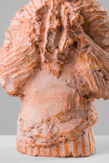 Linda Marrinon Gerry Humphrys 1966 (detail), 2019; terracotta; 55 x 28 x 18 cm; enquire