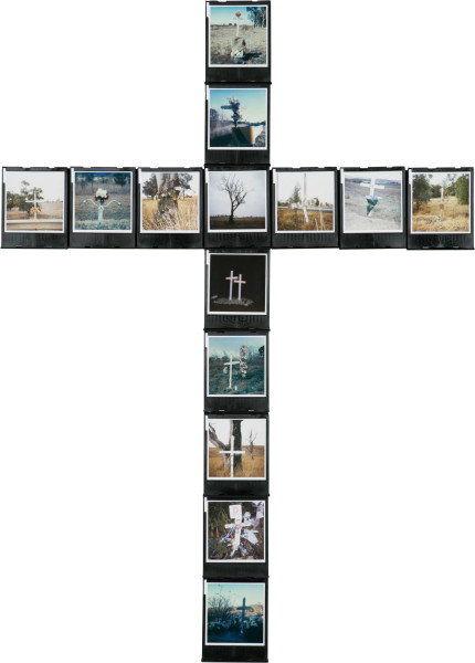 Nell ONE-OFF (RUSTY), 2005; 14 Polaroid Photographs and Cartridges, wood; 90.5 x 34.8 cm; enquire