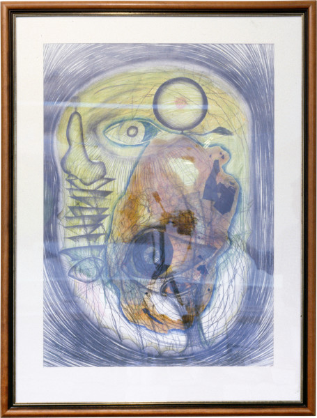 Dale Frank The Milanese Artist II, 1985; pencil & mixed media on paper; 131 x 110 cm; enquire